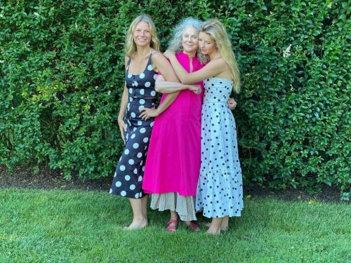 Gwyneth Paltrow teams up with her mother Blythe Danner and daughter Apple to model fashion range