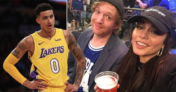Vanessa Hudgens fuels Kyle Kuzma romance rumours with fun beer-fuelled selfies at LA Lakers game