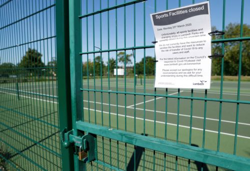 Are tennis courts open and are doubles matches allowed?