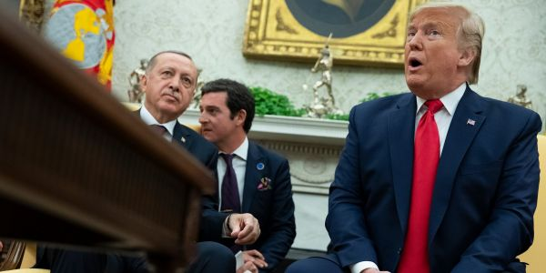 Trump keeps contradicting the Pentagon about whatever it is the US is doing with Syria's oil