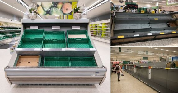 Food rationing 'could be on its way unless everyone stops panic buying'