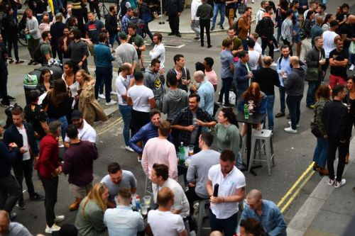 Soho 'like a petri dish' as Super Saturday drinkers ignore social distancing