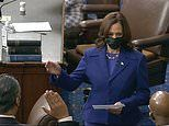 Democrats take control of the Senate as Kamala Harris swears in new senators