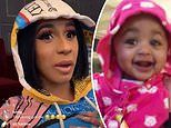 Cardi B shares RARE video of daughter Kulture laughing as she listens to her dad Offset's new album