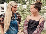 Tori Spelling shares a snap and shows that her daughter Stella is just as tall as she is
