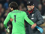 Alisson earns praise from Jurgen Klopp for key role in helping Liverpool towards title