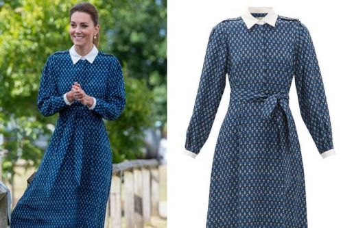 Kate Middleton stuns silk blue floral dress, get the look from £28