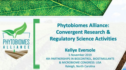Phytobiomes Alliance: Convergent Research & Regulatory Science Activities