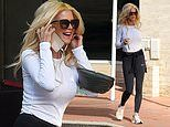 Victoria Silvstedt, 45, dons skin-tight workout gear
