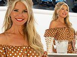 Christie Brinkley, 65, looks youthful while filming a video about prosecco