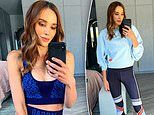 Rebecca Judd shows off her slim figure as she models her new knitted collection forJaggad