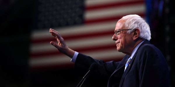 Bernie Sanders speaks on camera about his health after his heart attack