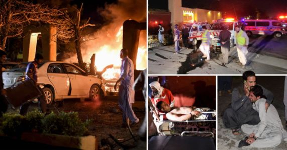 Four dead and 12 injured after bombing at luxury Pakistan hotel