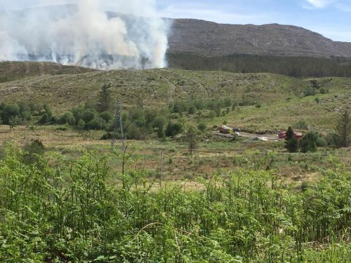 Fire crews battle overnight to bring Skye wildfire under control