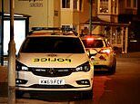 Thirteen people are arrested after large group of youths 'became aggressive towards police'