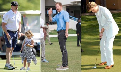 Hole-in-one! 10 action shots of the royals playing golf