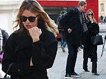 Abbey Clancy enjoys a day out with husband Peter Crouch in London