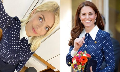 Holly Willoughby TOTALLY channelled Kate Middleton in this polka dot outfit - and we've found it in the sale