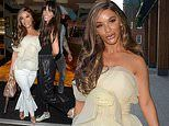 Hollyoaks' Chelsee Healey cuts a chic figure as she poses with co-star Jennifer M