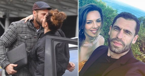 Kelvin Fletcher shares sweet kiss with wife as she explains missing wedding ring after Oti pictures