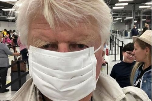 PM's dad Stanley Johnson flouts travel rules and jets to villa in Greece