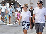Petra and Tamara Ecclestone go sightseeing with their families in Croatia