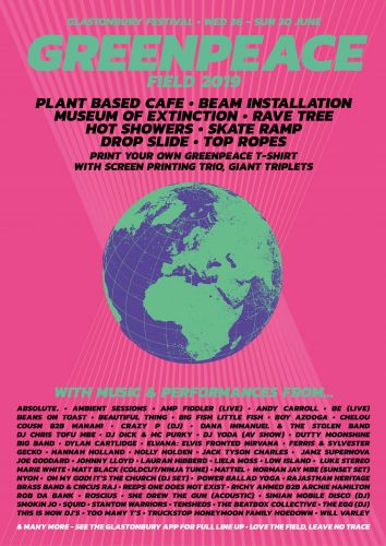 Greenpeace returns to Glastonbury with their best field ever