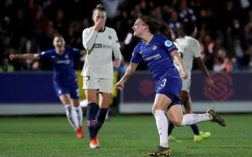 Chelsea Women take control of Champions League quarter-final tie with PSG as Hannah Blundell scores stunner