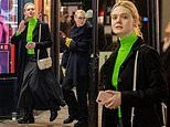 Elle Fanning and sister Dakota forgo make-up as they step out for an evening stroll in London