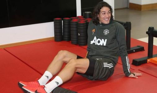 What Man Utd star Edinson Cavani did in training before PSG Champions League clash