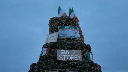 MLA's call for hate crime probe into vile bonfire banners