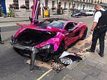 Driver crashes £150k pink McLaren on a London street