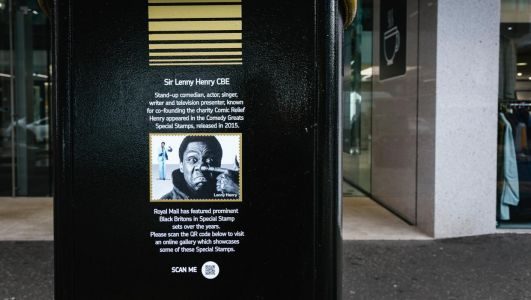 Belfast postbox honours Sir Lenny Henry to mark Black History Month