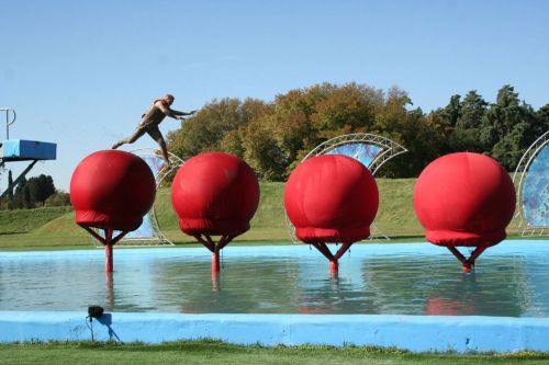 Is the total wipeout course in the UK and can you do it for fun?