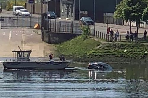 Hero ferry captain dives into the Clyde to rescue woman who drove car into water