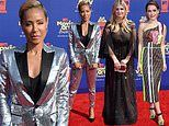 Hollywood's brightest dazzle on the MTV Movie Awards red carpet