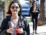 Lucy Hale flaunts her fit physique as she steps out solo for a workout