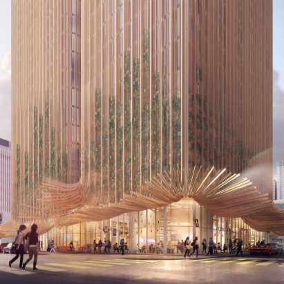 Sky Trees tower proposed for Los Angeles takes cues from redwoods andMarilyn Monroe