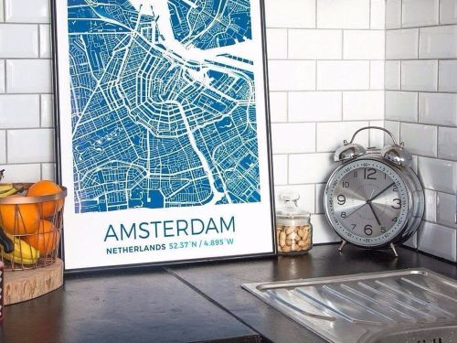 This website lets you design custom map posters and T-shirts of anywhere in the world, and the results are undeniably cool