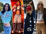 Stars including Jhene Aiko and Bella Hadid go WILD for low rise jeans
