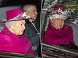 Prince Andrew joins the Queen for Sunday church service at Balmoral