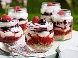 Pack up a picnic: Blueberry cheesecake pots