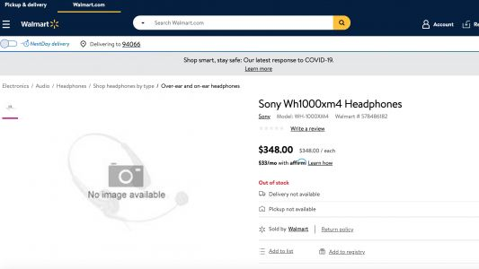 Sony WH-1000XM4 features leaked in Walmart headphones listing