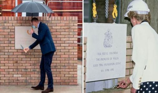 Prince William follows in Princess Diana's footstep with poignant visit