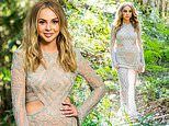 The Bachelorette's Angie Kent stuns in a beaded gown as she confesses her love to Carlin Sterritt