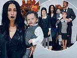 Stacey Solomon transforms her brood into The Addams Family
