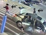 Woman escapes from the trunk of a car but her 'kidnappers' catch her and force her back in