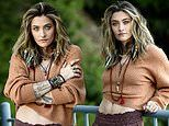 Paris Jackson is every inch the boho babe as she gets decked out in beads and midriff-baring top
