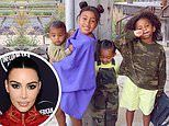 Kim Kardashian shares portraits of four children and husband Kanye West amid marriage struggles