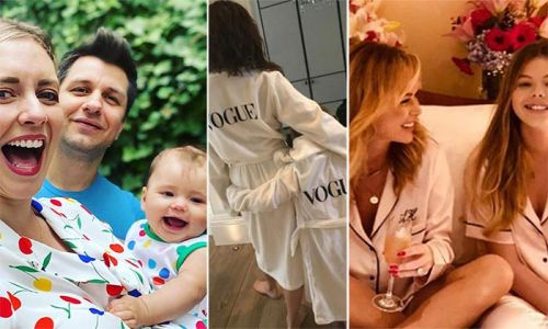 Celebrity parents and kids wearing matching outfits: Amanda Holden to Rachel Riley